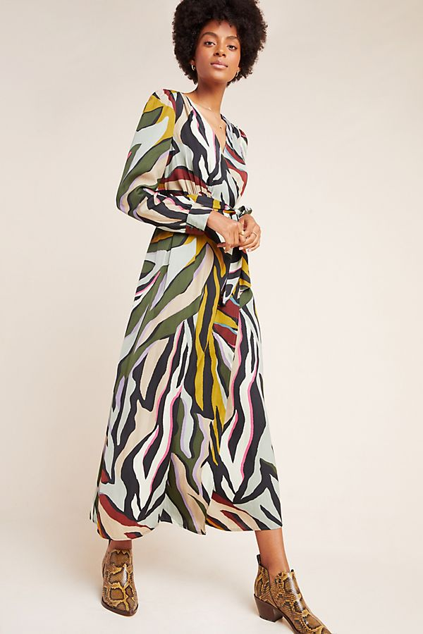 Slide View: 1: Corey Lynn Calter Zebra Wrap Dress
