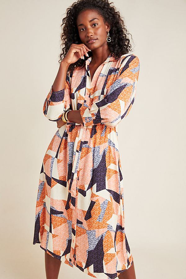 Slide View: 1: Corey Lynn Calter Abstract Shirtdress