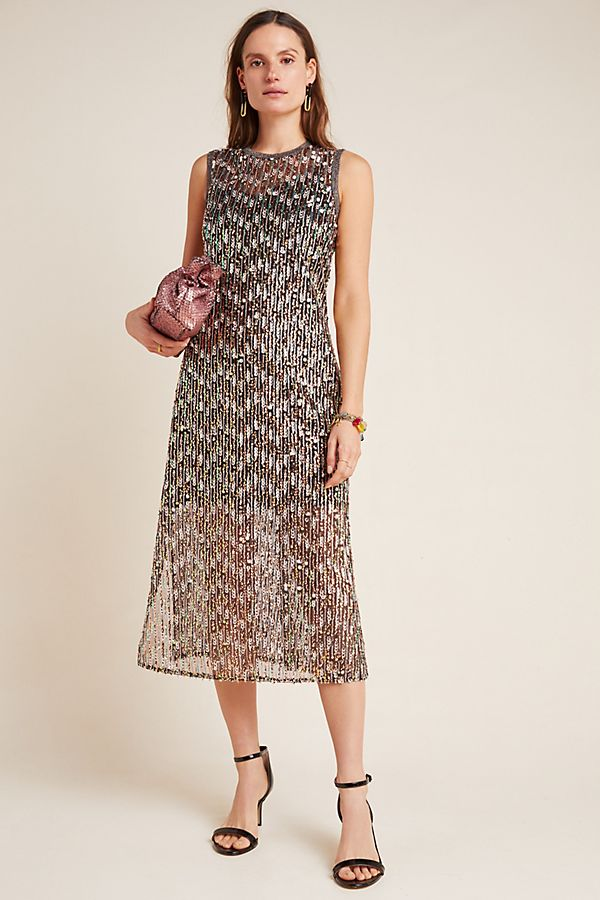 Slide View: 1: Corey Lynn Calter Sequined Swing Maxi Dress