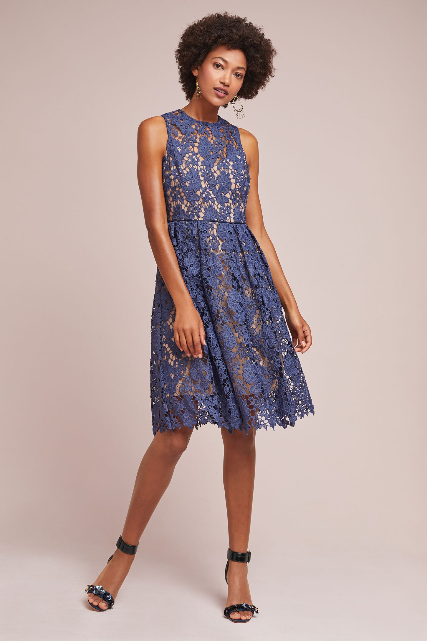 cbba15ce18a2 High-Neck Lace Dress   Anthropologie