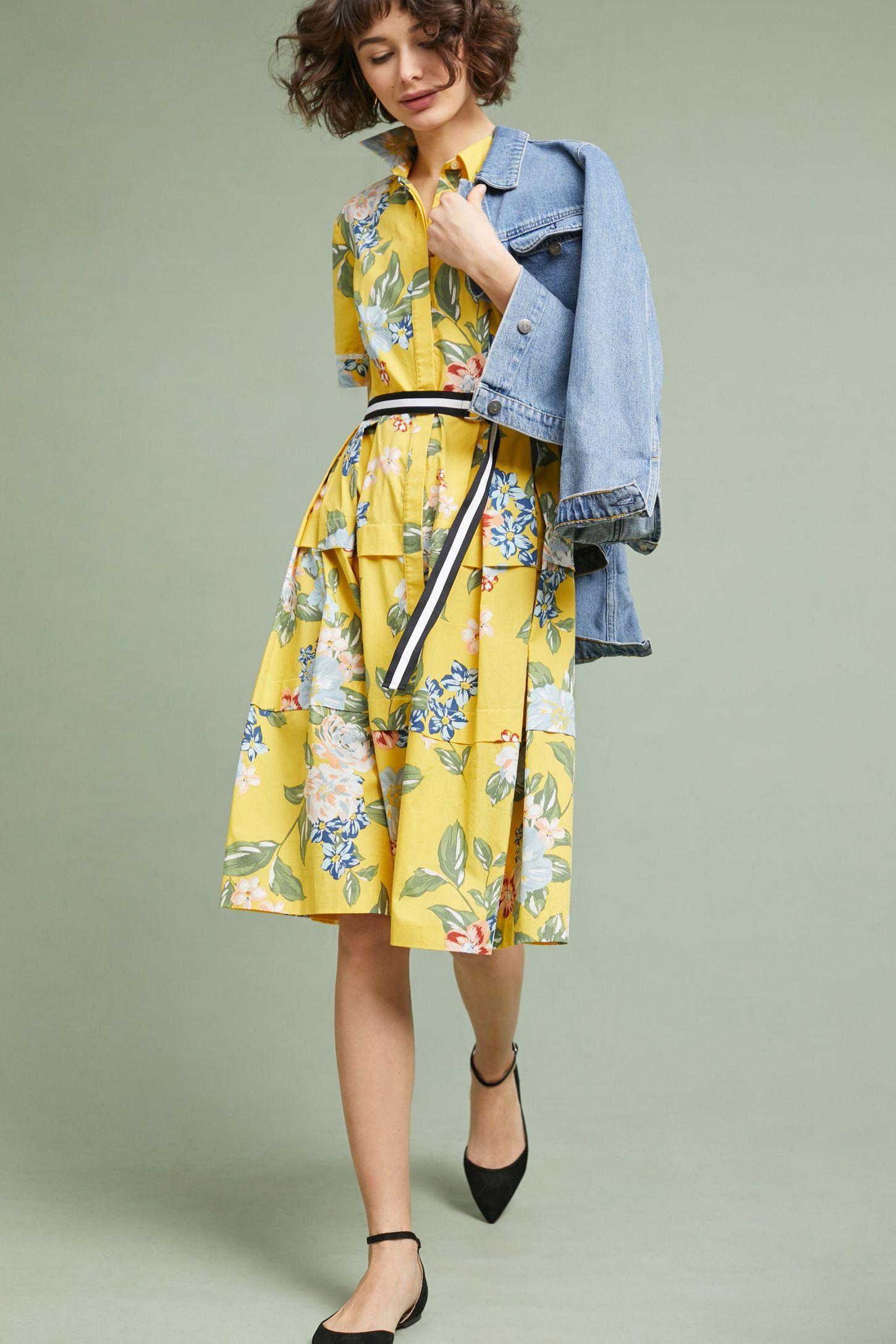 4a82af4a59b0 Sporty Floral Shirtdress | Anthropologie