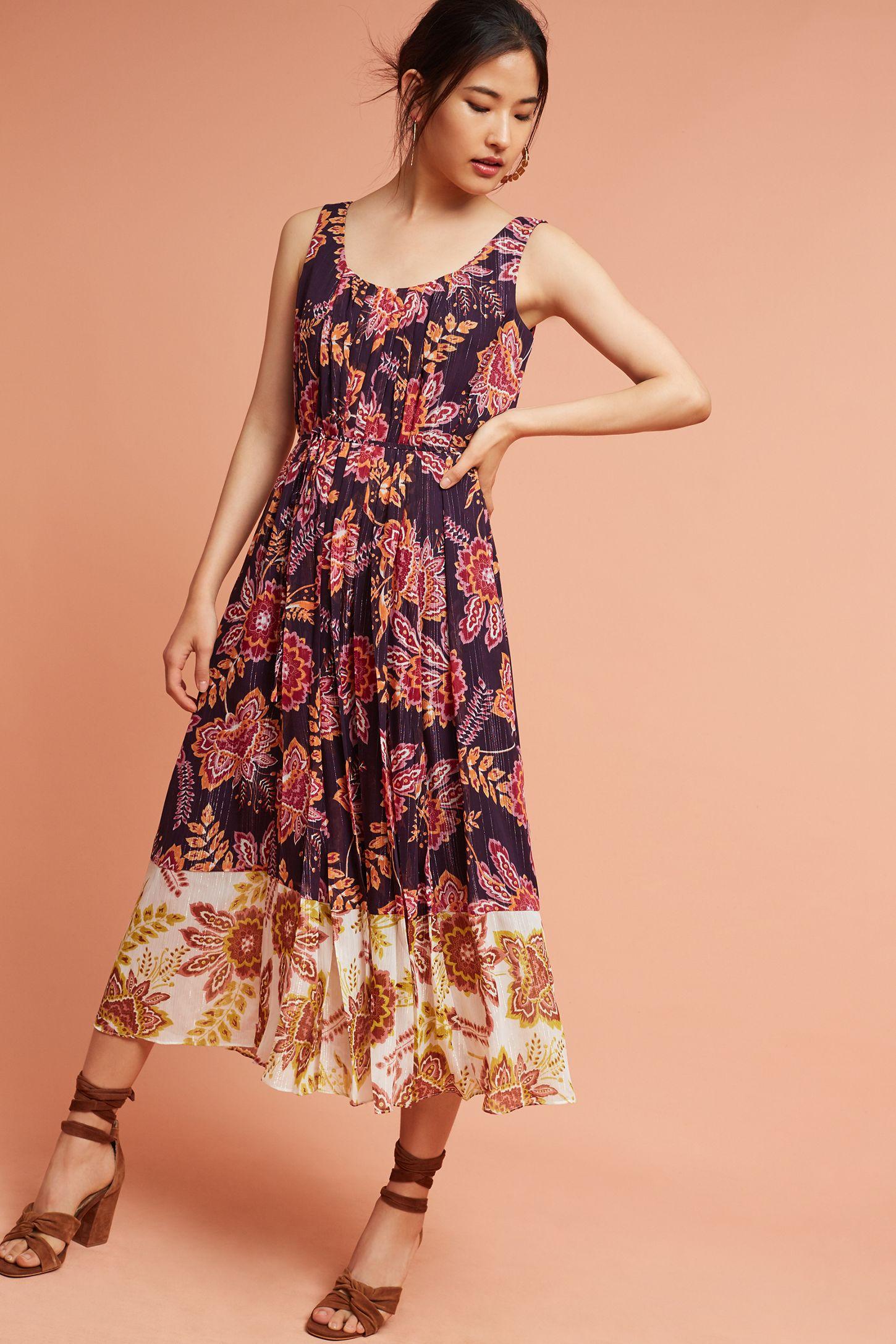 60f082d67746 Liv Floral Midi Dress | Anthropologie