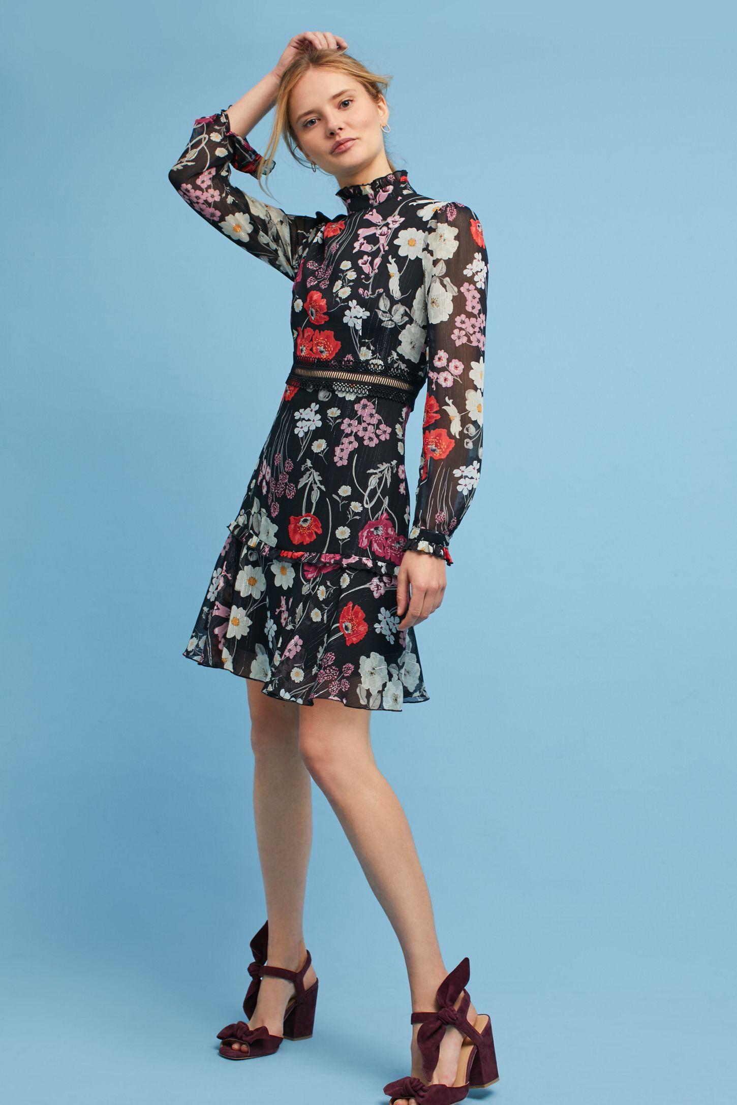 4645f13dceb1 Floral High-Neck Dress | Anthropologie