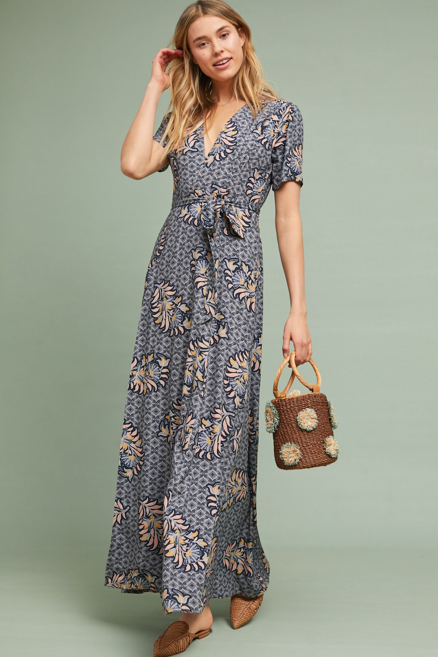 d067a38b88d Zinaida Maxi Wrap Dress. Tap image to zoom. Hover your mouse over an image  to zoom. Double Tap to Zoom