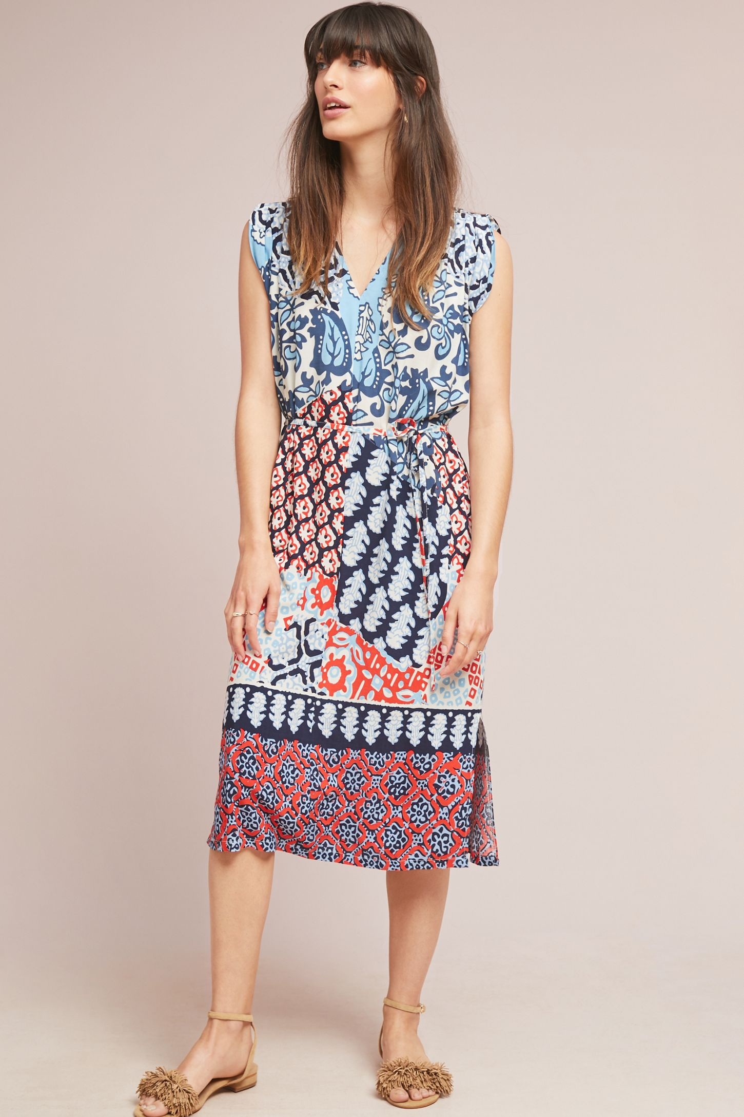 2a6c20ec82b9 Patchwork Midi Dress   Anthropologie