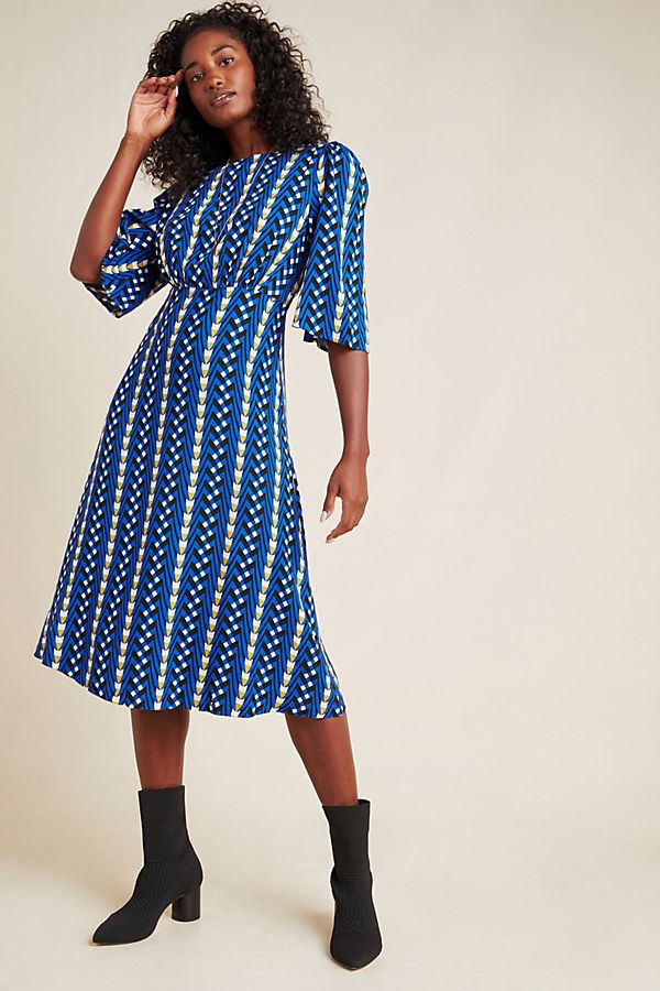 Slide View: 1: Marjorie Geo Midi Dress