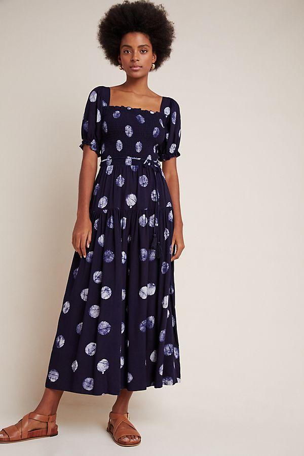Slide View: 1: Alix Smocked Maxi Dress