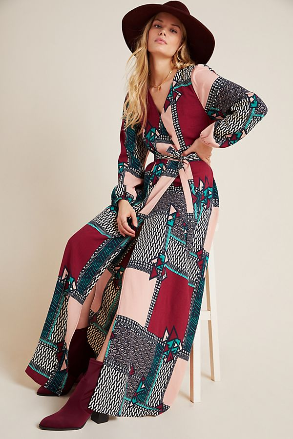 Slide View: 1: Virginia Wrap Maxi Dress