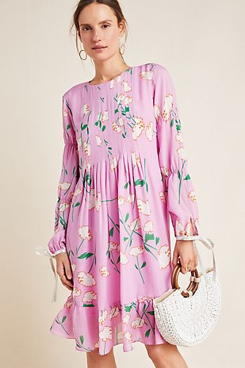 08210428c3e Cynthia Rowley Tie-Sleeved Floral Maxi Dress