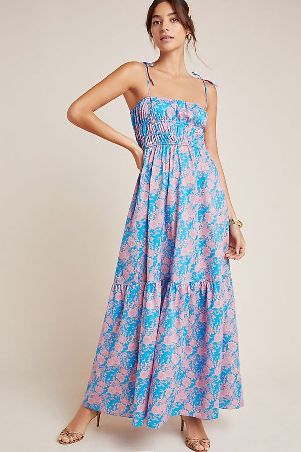 aa38db78eec Cynthia Rowley Azores Smocked Maxi Dress | Anthropologie