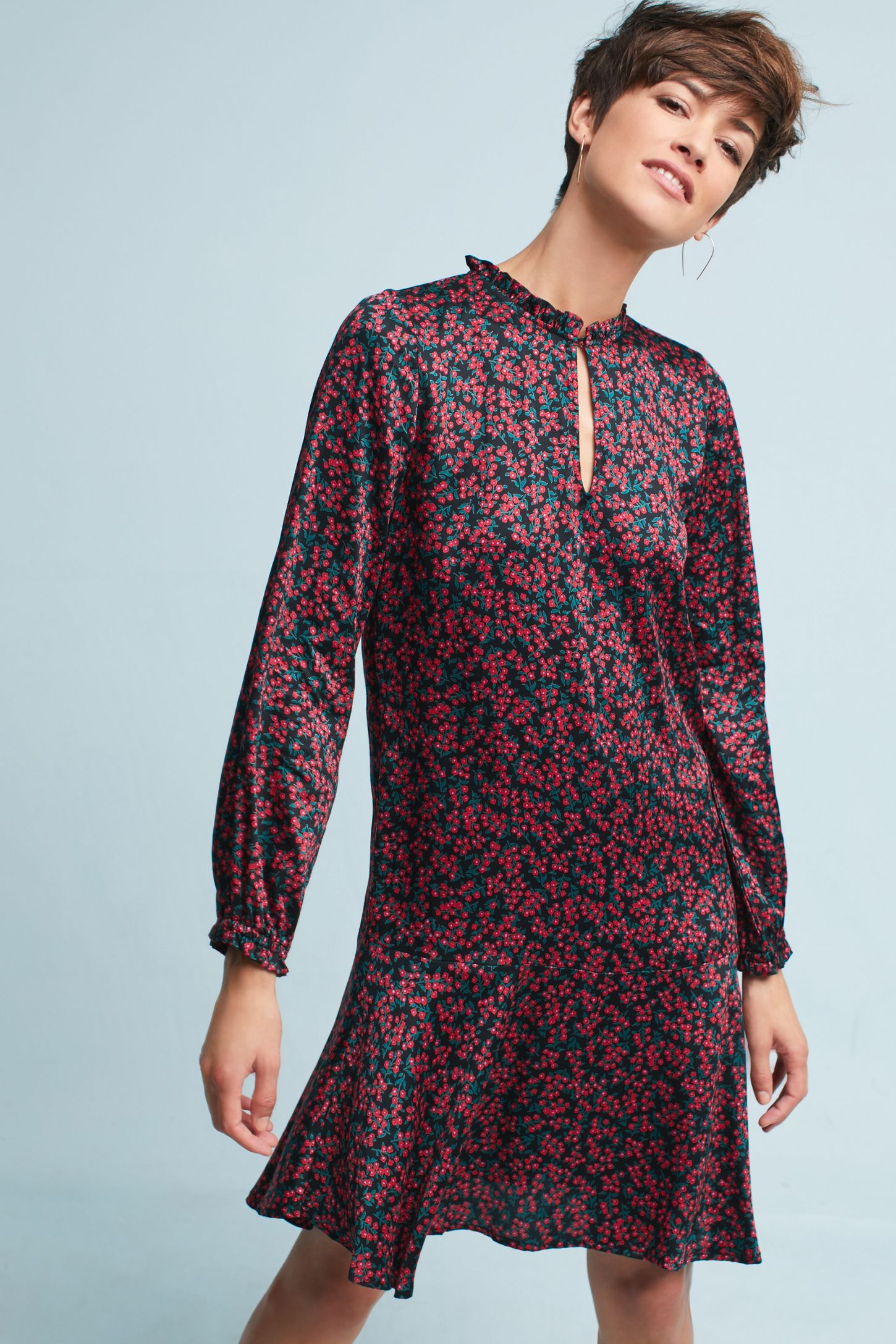 fd31529a95c Floral Keyhole Tunic Dress   Anthropologie