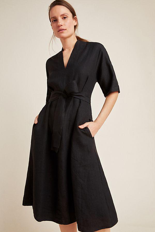 3455dce8f8c5 Winley Linen Midi Dress | Anthropologie