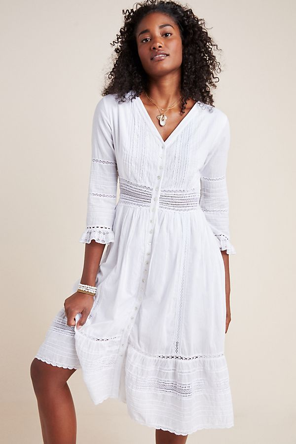 Slide View: 1: Angi Lace Midi Dress