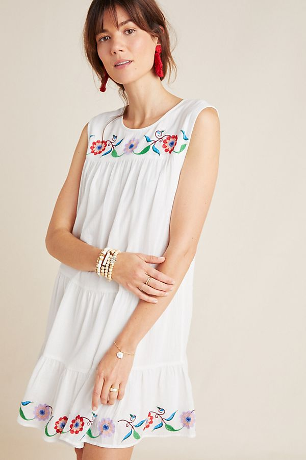 Slide View: 1: Colina Embroidered Swing Dress