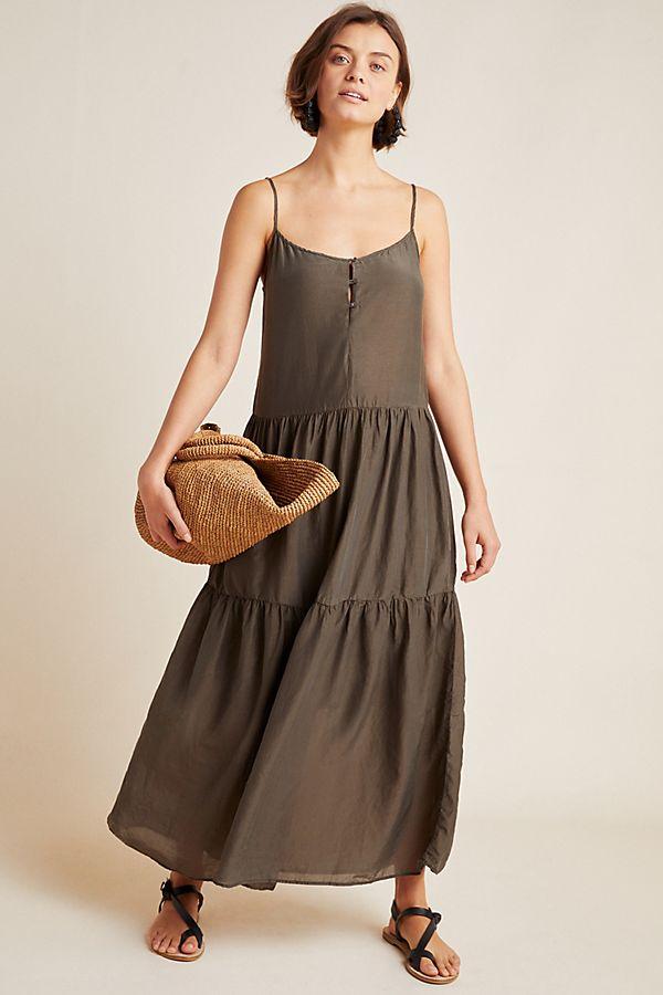 Slide View: 1: Simone Tiered Maxi Dress