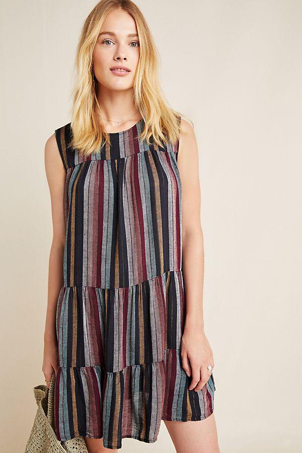 Slide View: 1: Leighton Tiered Tunic Dress