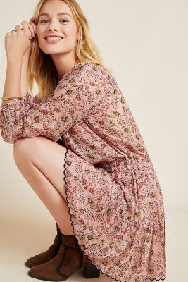 Aubrey Floral Tunic Dress by Velvet By Graham & Spencer