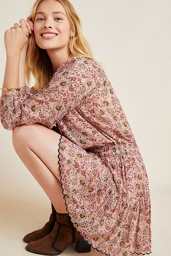 Slide View: 1: Aubrey Floral Tunic Dress