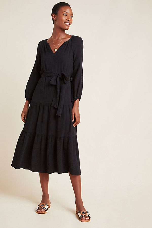 Slide View: 1: Samara Textured Midi Dress