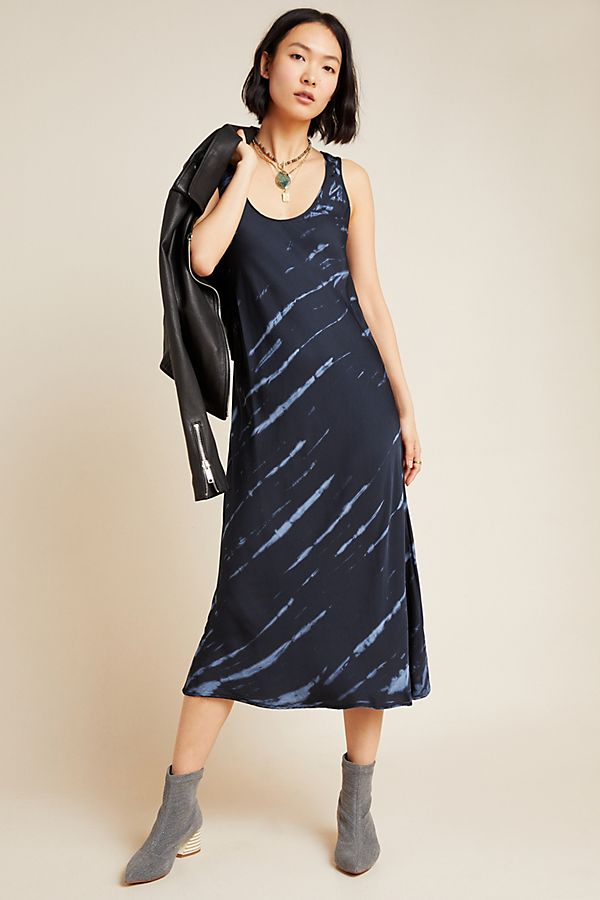 Slide View: 1: Billy Tie-Dyed Satin Midi Dress