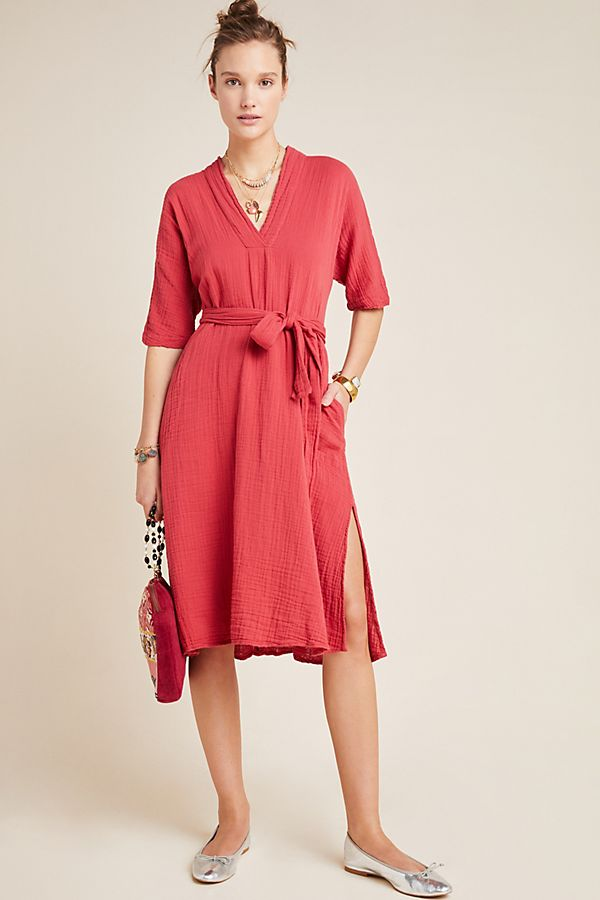 Slide View: 1: Kerry Textured Midi Dress
