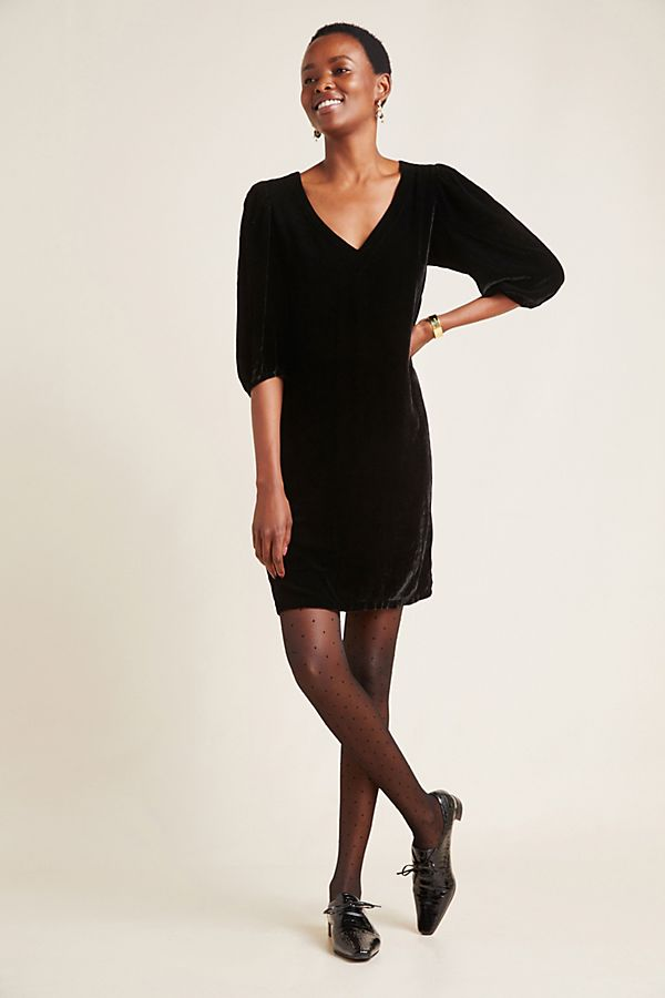 Slide View: 1: Carissa Velvet Mini Dress