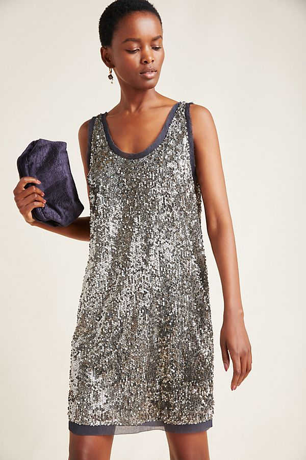 Slide View: 1: Carmela Sequined Mini Dress