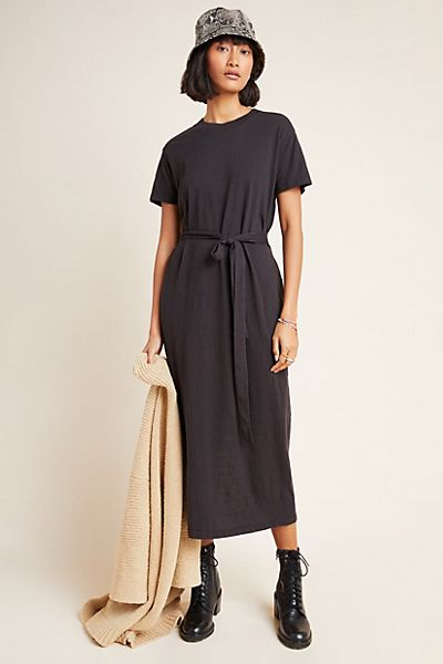 Aida Belted Midi Dress