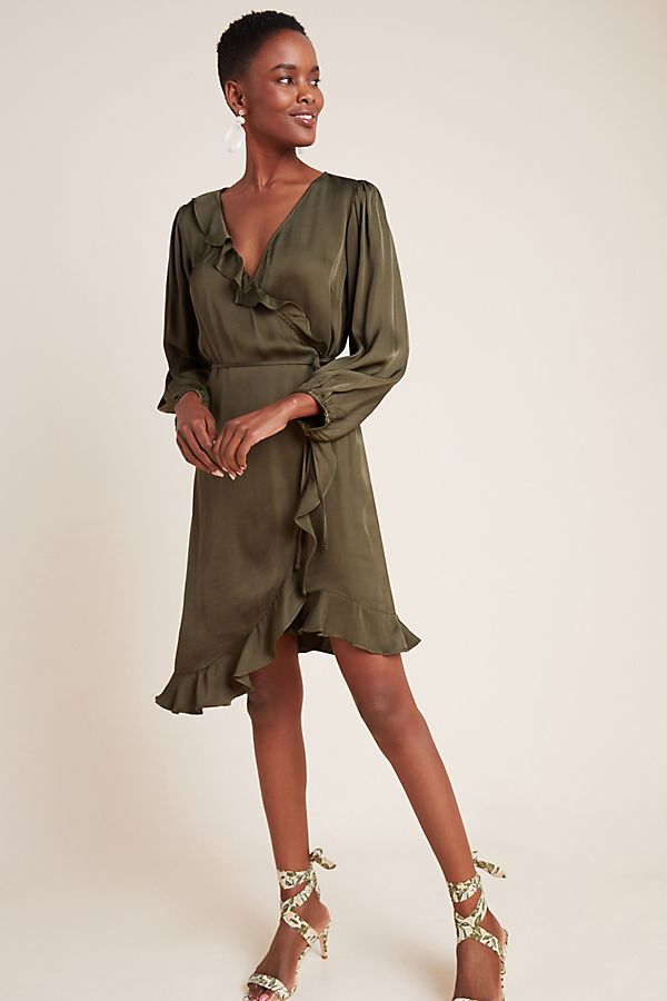 Slide View: 1: Alena Ruffled Wrap Dress
