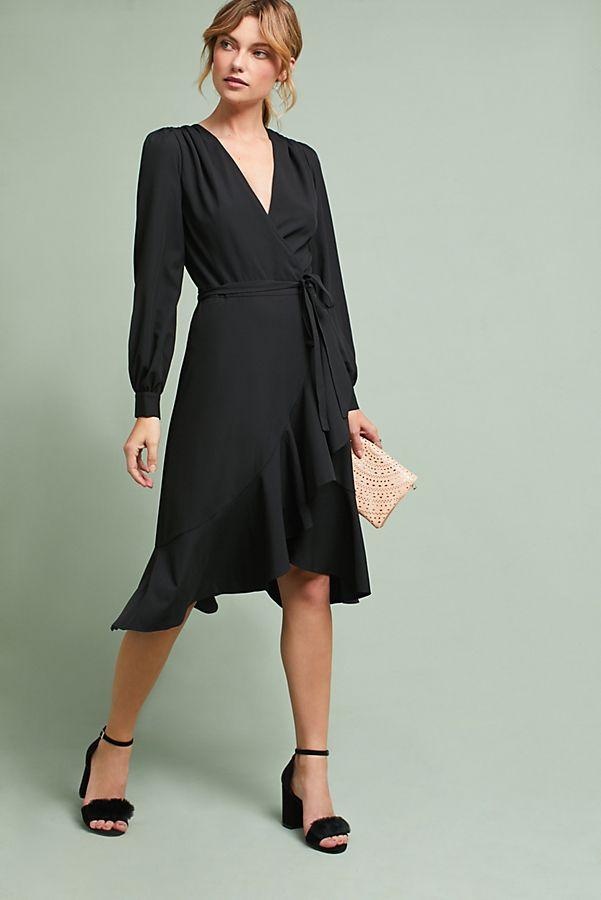 4dc0273e1db1 Yumi Kim Ruffled V-Neck Wrap Dress