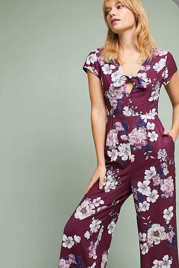 f2b11208351 Yumi Kim Floral Cutout Jumpsuit