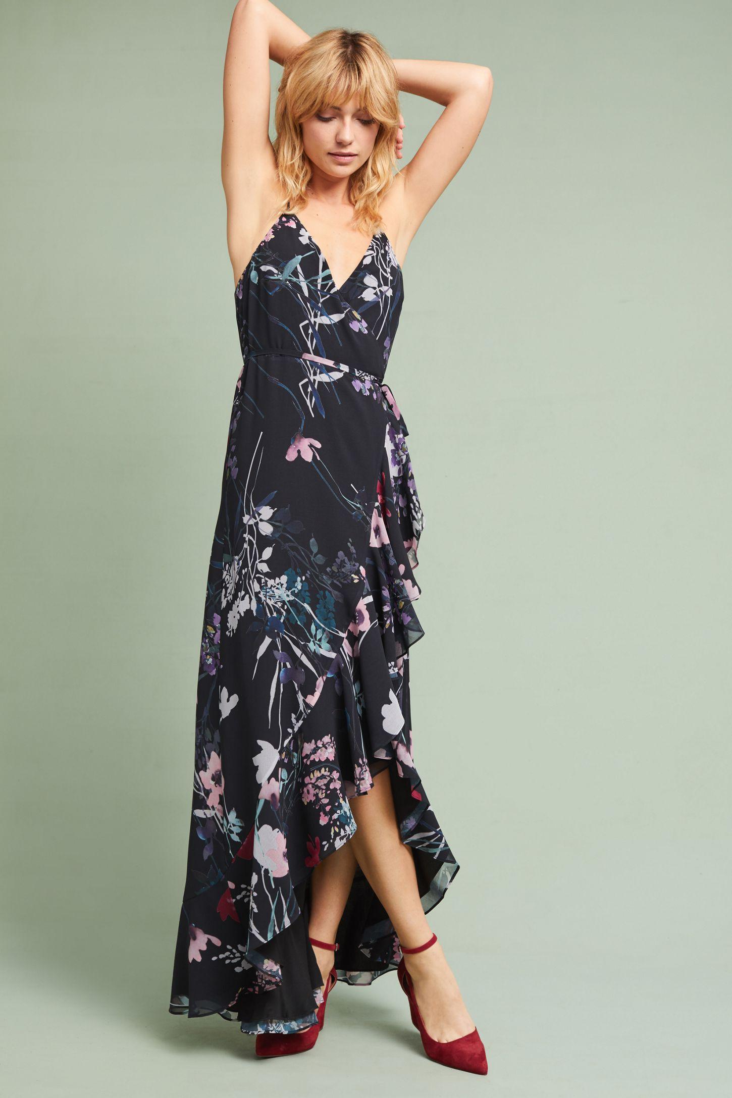 b58f7b4f14000 Yumi Kim Fleur Ruffled Wrap Dress