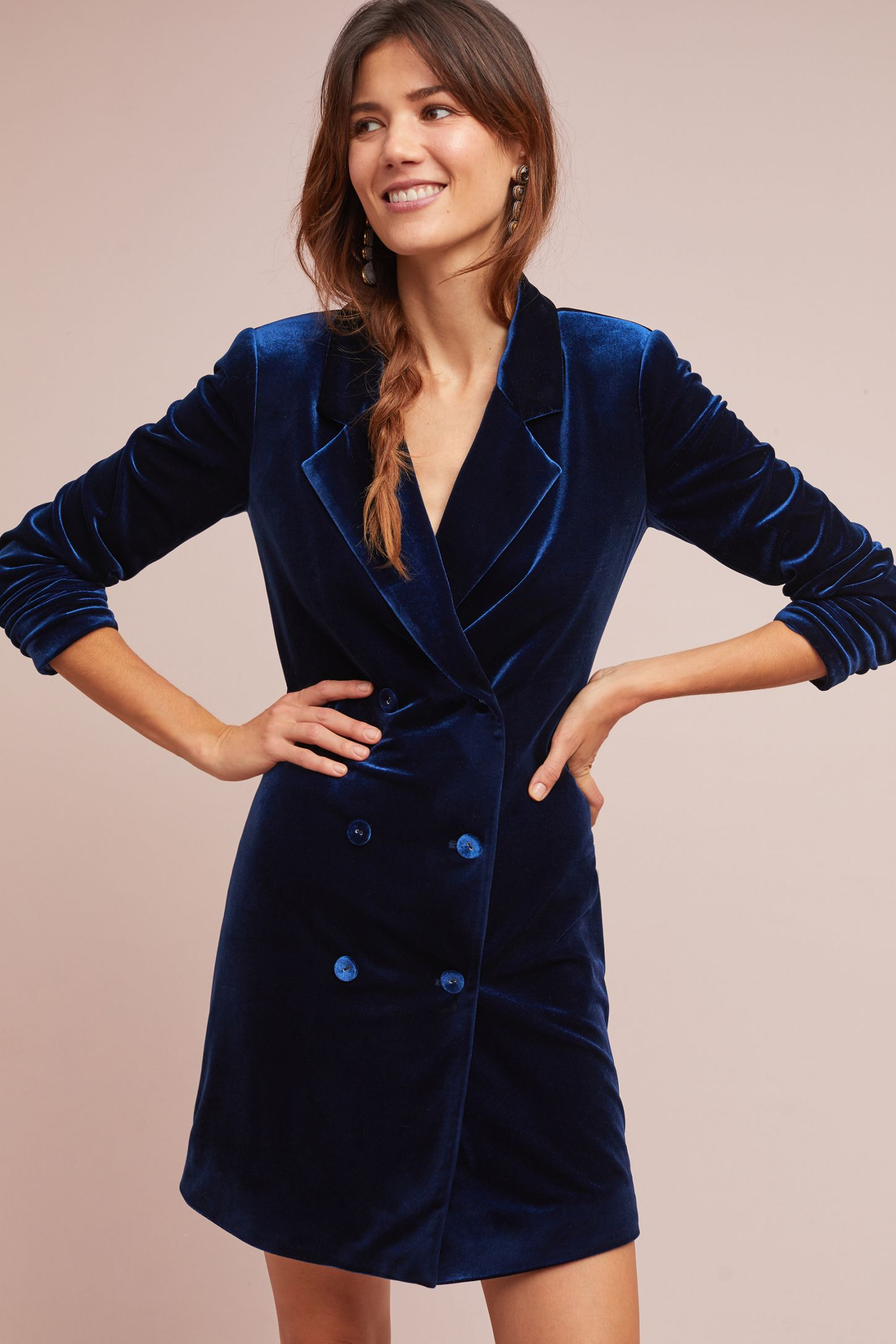 004e51c9eb2ae Yumi Kim Velvet Blazer Dress | Anthropologie