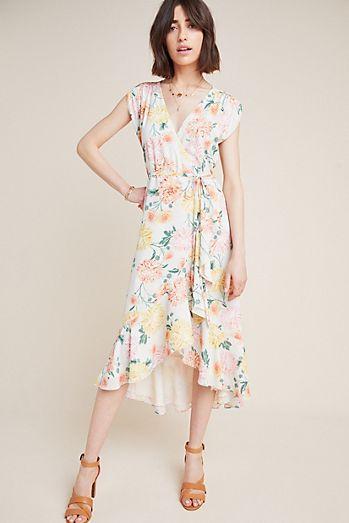 ad7bdf673b Yumi Kim Hydrangea Wrap Dress
