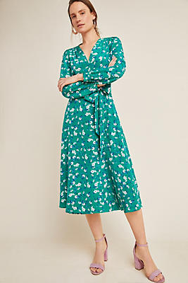 Slide View: 1: Yumi Kim Titania Silk Wrap Dress