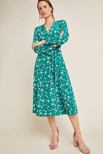 da75873cdbd18 Yumi Kim Titania Silk Wrap Dress