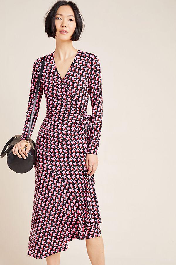 Slide View: 1: Yumi Kim Geometric Asymmetrical Wrap Dress
