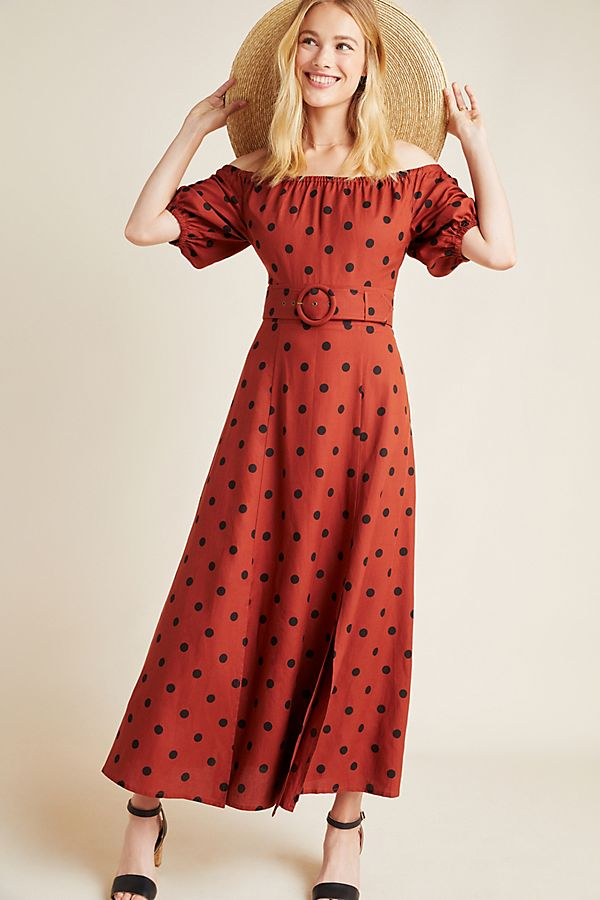Slide View: 1: Lucienne Off-The-Shoulder Maxi Dress