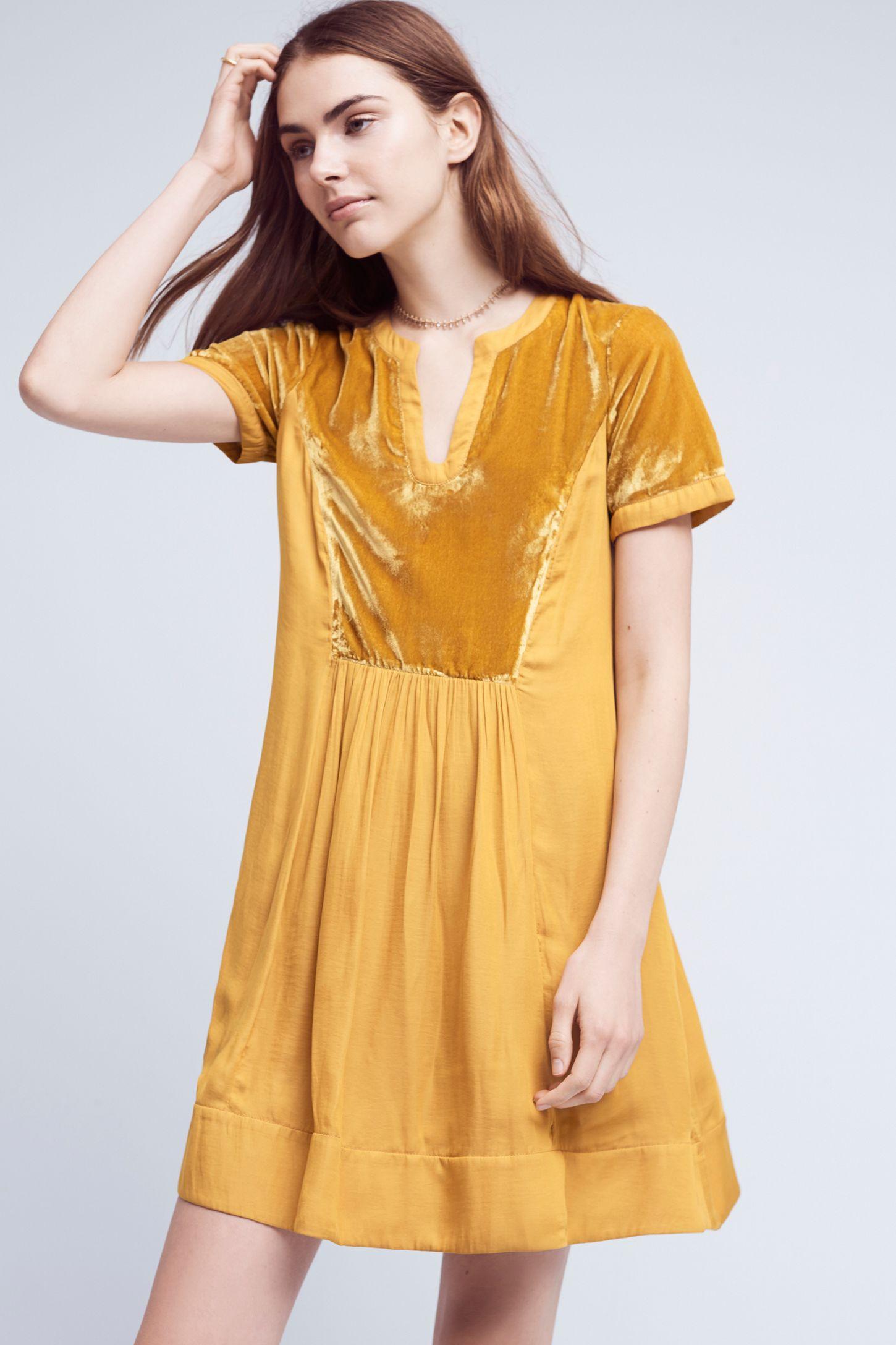 30e3e621ccc Velvet Tunic Dress | Anthropologie
