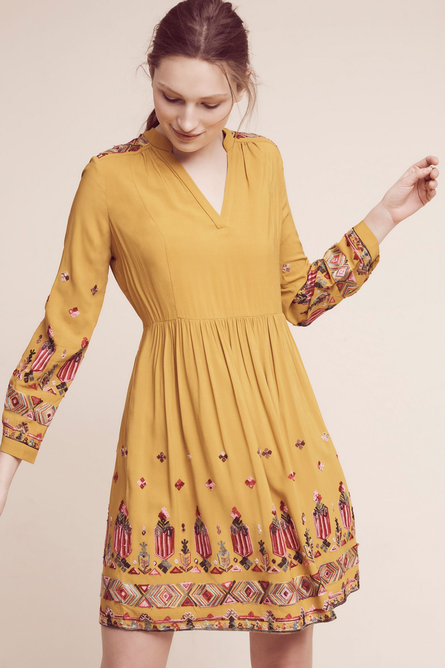 35706a044662 Raella Embroidered Tunic Dress | Anthropologie