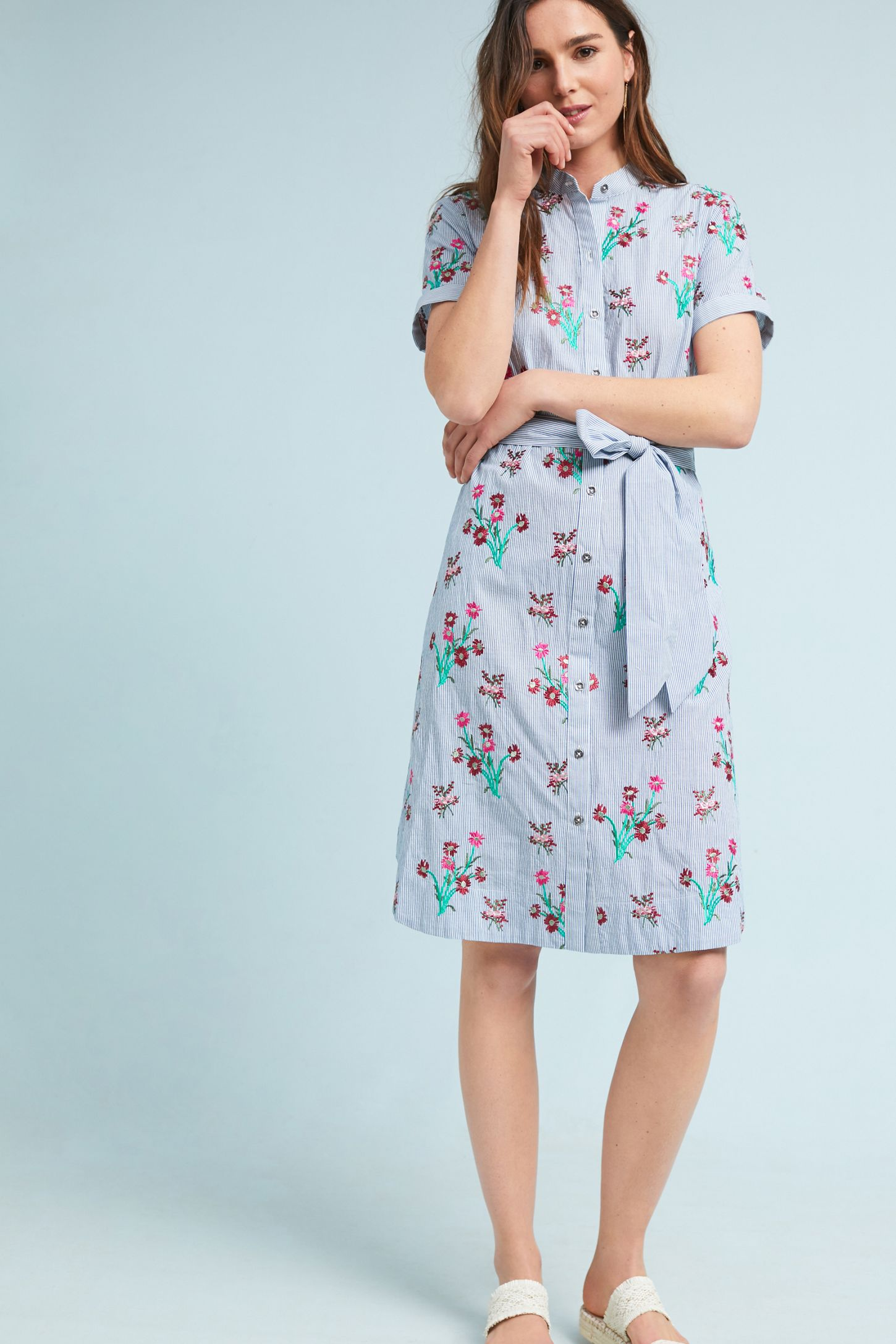 df4a54c9e839 Embroidered Shirtdress | Anthropologie