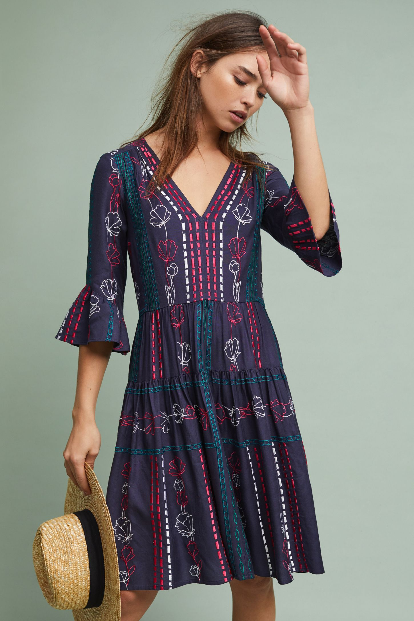 5ca22475c Hailey Embroidered Dress | Anthropologie