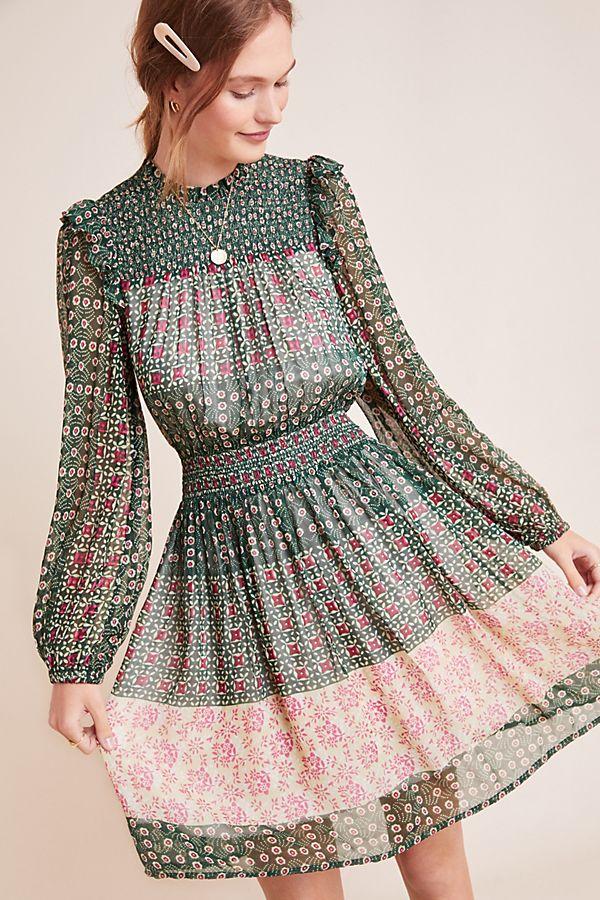 Slide View: 1: Rhiannon Floral Midi Dress