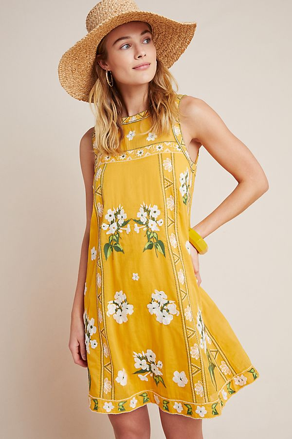 Slide View: 1: Shana Embroidered Swing Dress