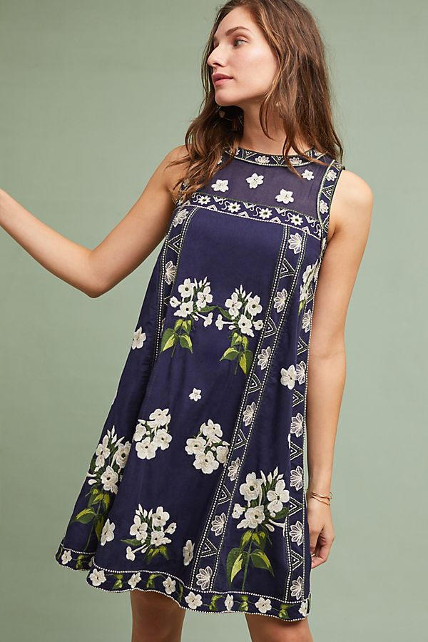 bcc588461a58e Rosa Embroidered Swing Dress | Anthropologie