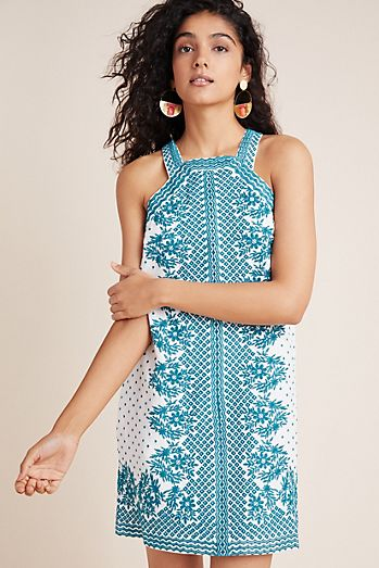 30dacf74541 Elin Embroidered Shift Dress