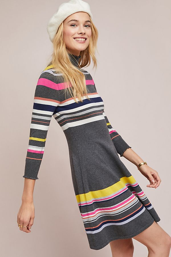 d5ae8db8a1a Striped Turtleneck Dress