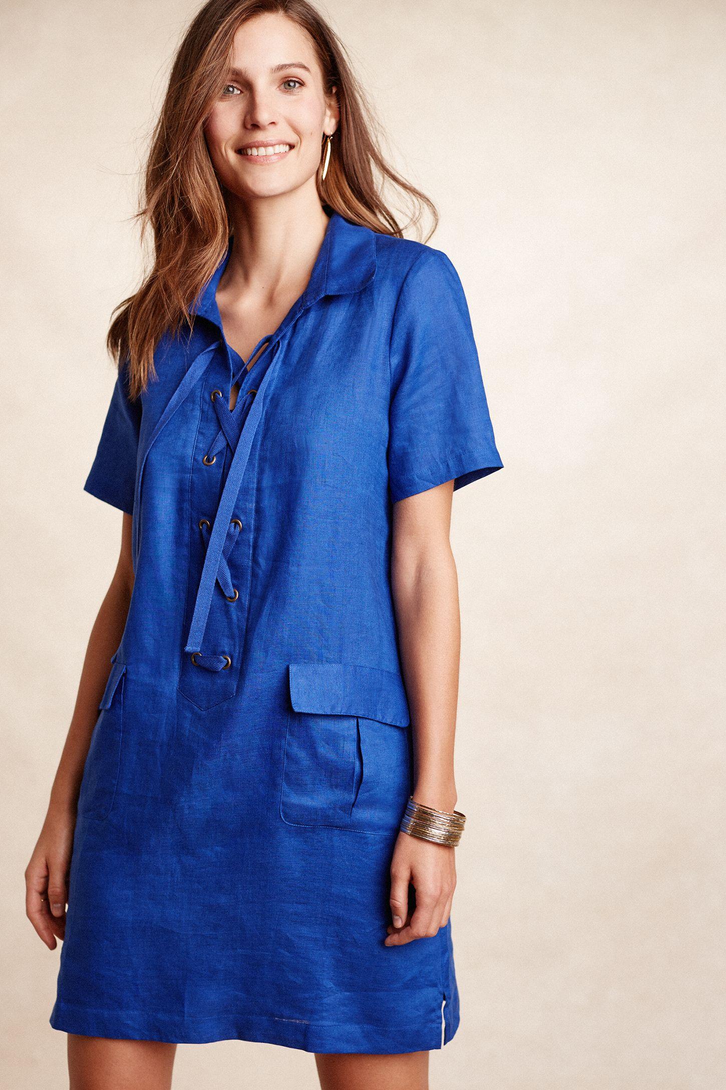 fe92325992 Lace-Up Linen Dress