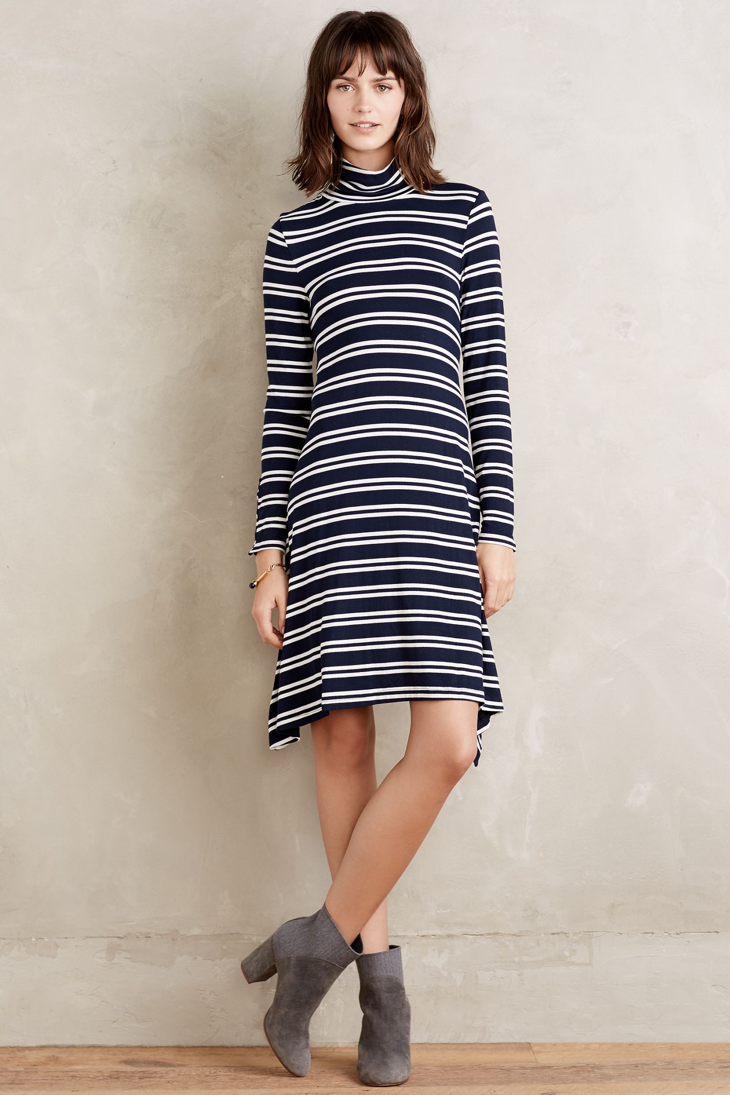 dadb61e7cc38 Turtleneck Swing Dress | Anthropologie