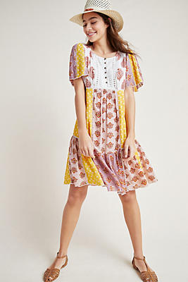 Slide View: 1: Melody Patchwork Dress